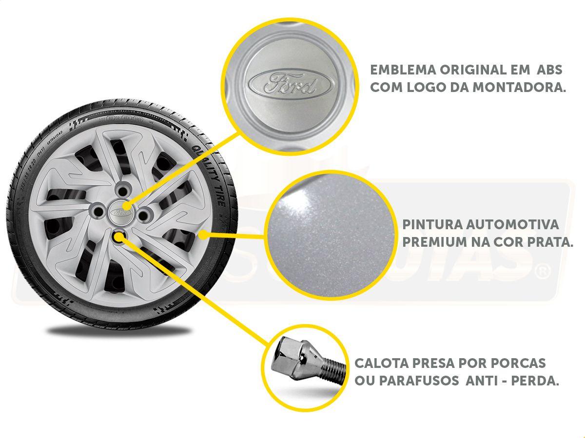 Calota Aro 14 Ford Ka Hatch Sedan 2016 2019 G292E