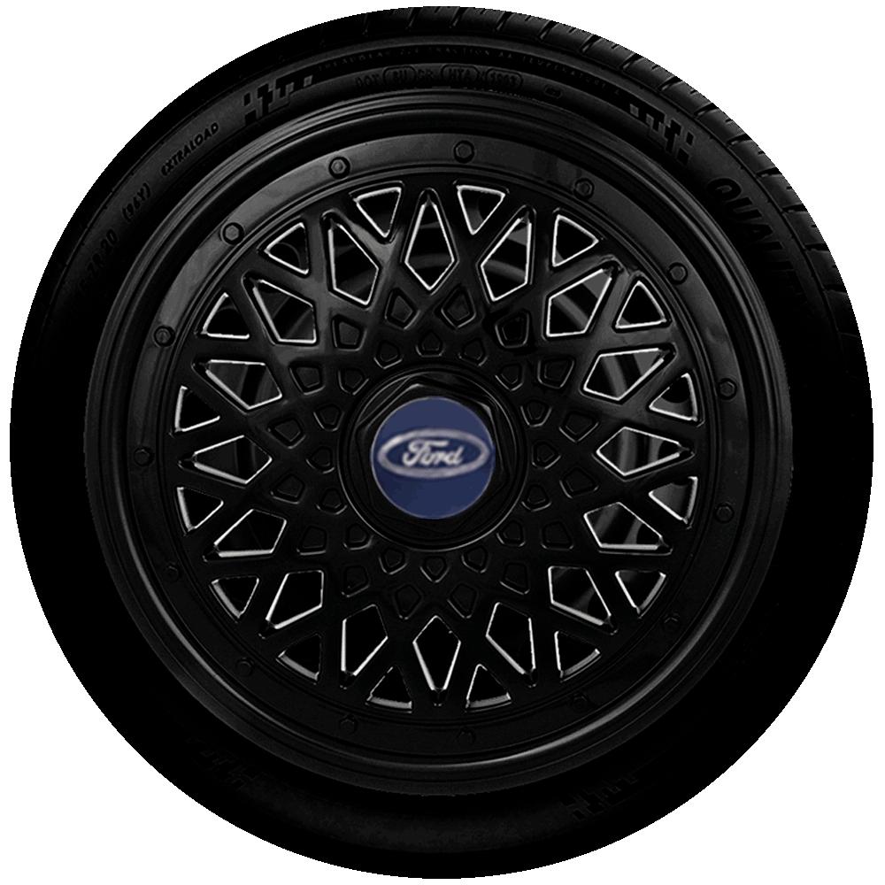 Calota Aro 14 Preta Ford G601Pob