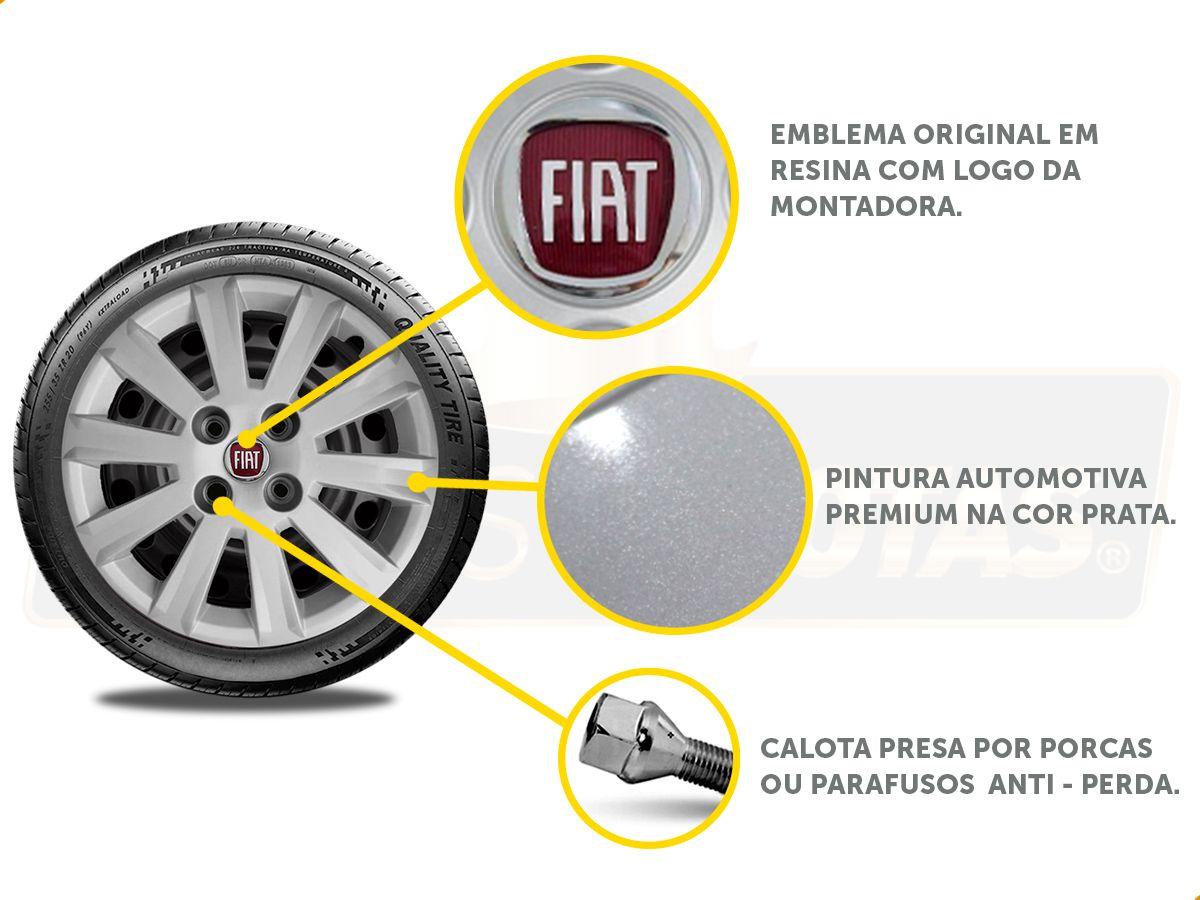Calota Aro 15 Fiat Palio Grand Siena Argo 2017 2019 G018E