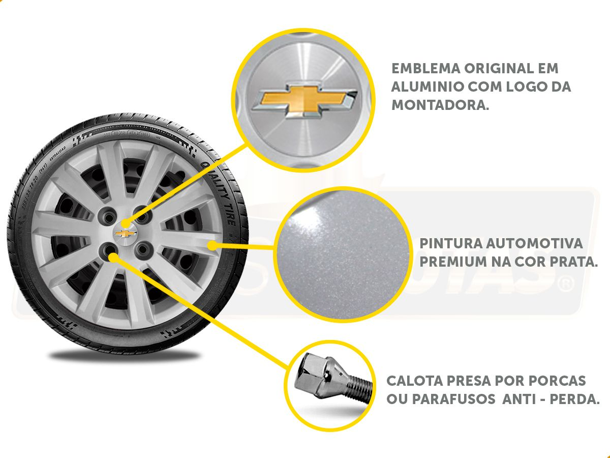Calota Aro 15 Gm Onix Prisma 2019 2020 G018E