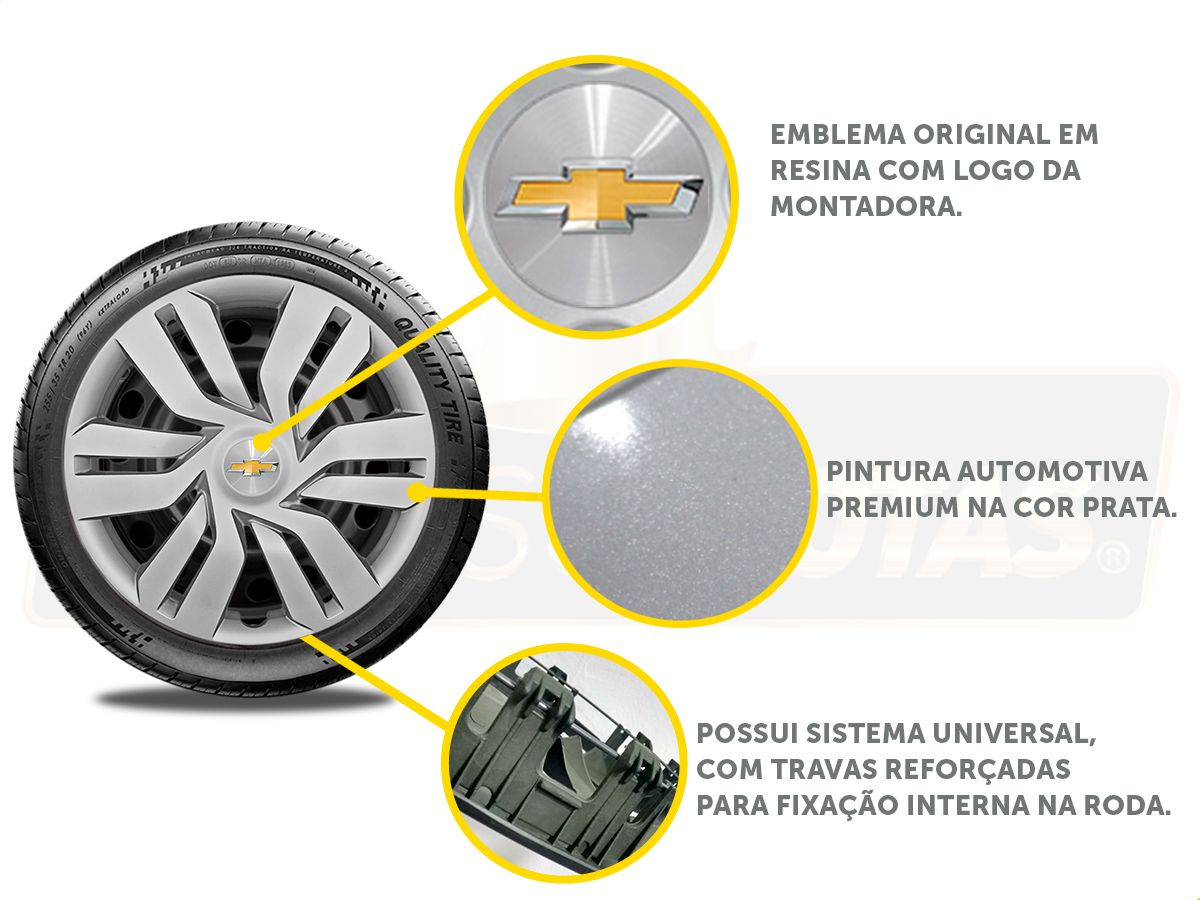 Calota Aro 15 Gm Onix Prisma 2019 2020 G120E