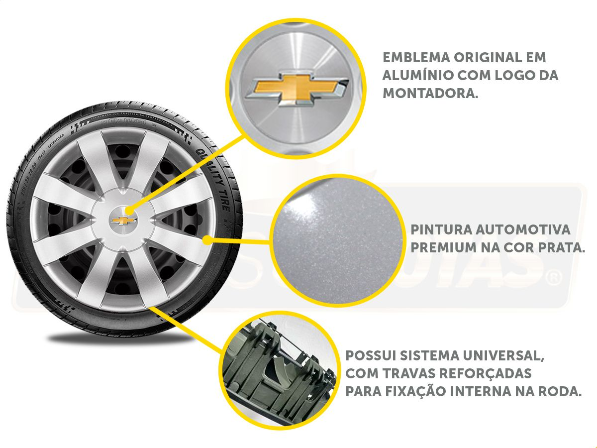 Calota Aro 15 Gm Onix Prisma 2019 2020 G875E