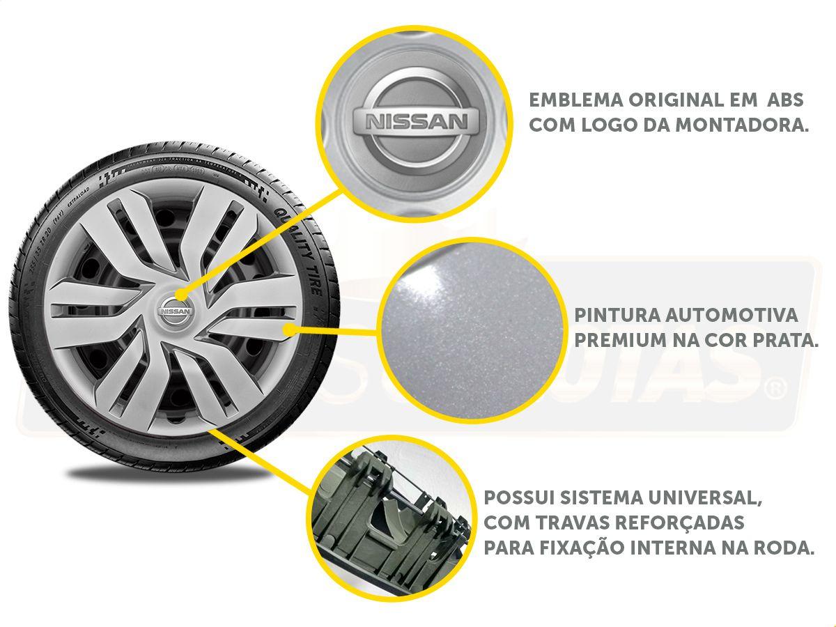 Calota Aro 15 Nissan March Versa 2013 2020 G120E