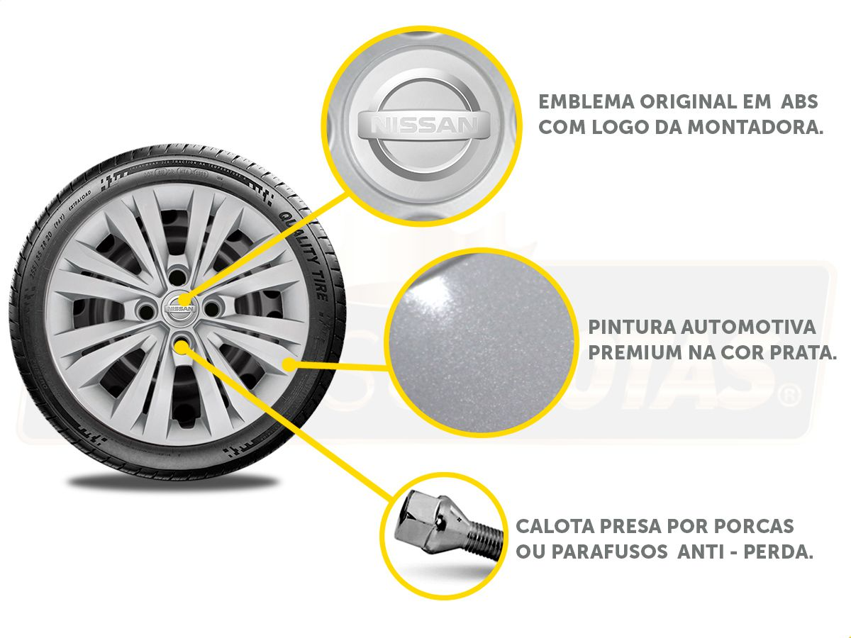 Calota Aro 15 Nissan March Versa 2013 2020 G246E