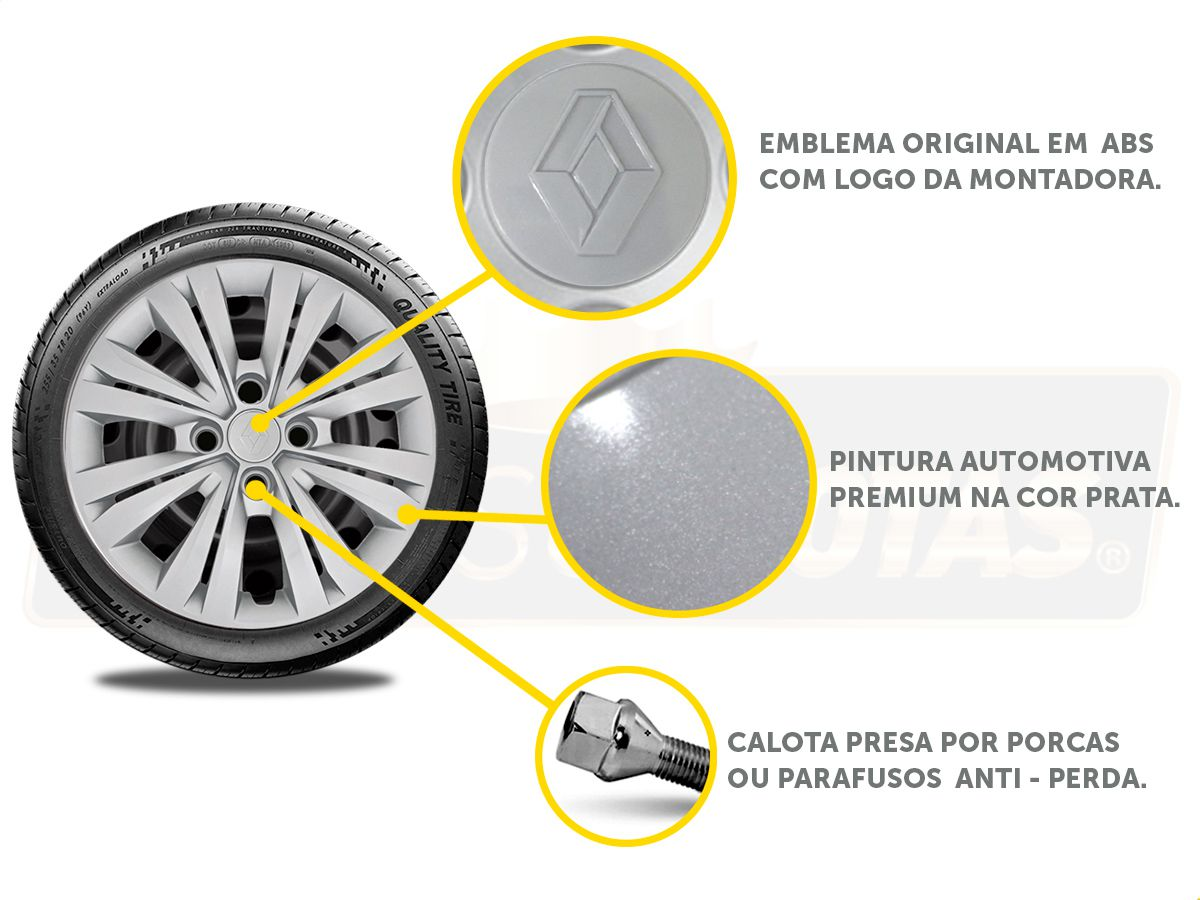 Calota Aro 15 Renault Sandero Logan 2018 2019 G246E