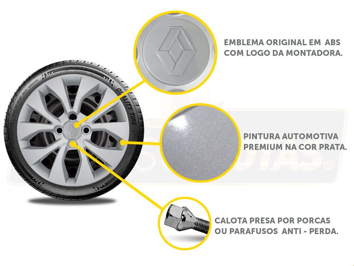 Calota Aro 15 Renault Sandero Logan 2018 2019 G375E