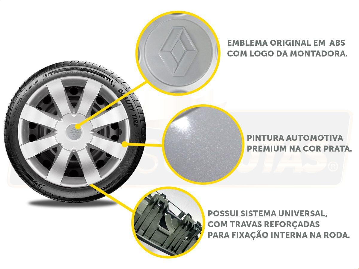Calota Aro 15 Renault Sandero Logan 2018 2019 G875E