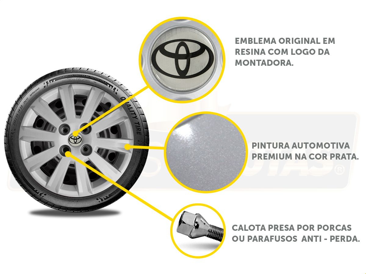 Calota Aro 15 Toyota Etios Sedan Hatch 2014 2020 G018E