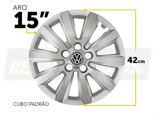 Calota Aro 15 Volkswagen Fox Spacefox Polo G119