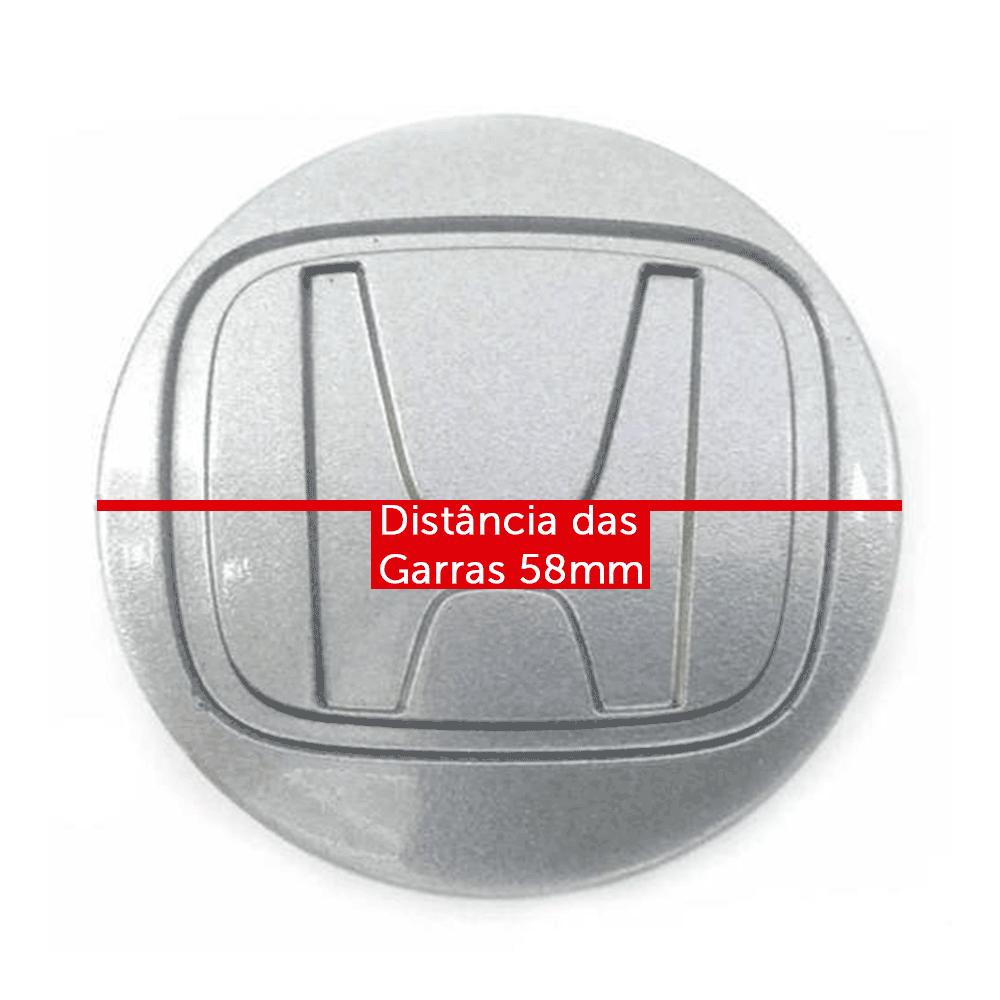 Calotinha centro de Roda honda honda prata fit Civic city 58mm