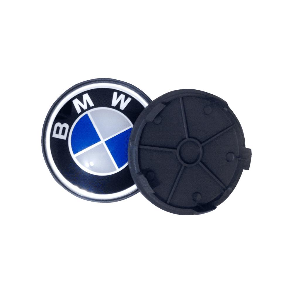 Calota Centro Miolo De Roda Original BMW Azul 65MM