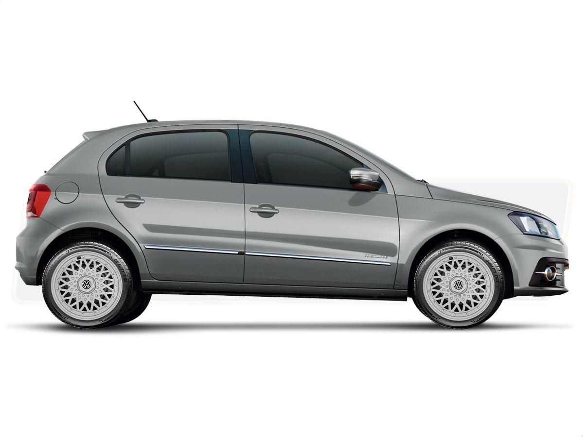 Calota Esportiva Jogo 4Pçs  BBS Prata Volkswagen Gol Quadrado Gol G1 Aro 14 G601ptaj