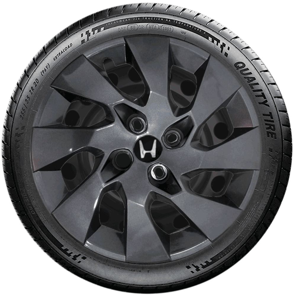 Calota Grafite Jogo 4Pçs Honda Civic City Fit 2020 Aro 15 G195Gftj