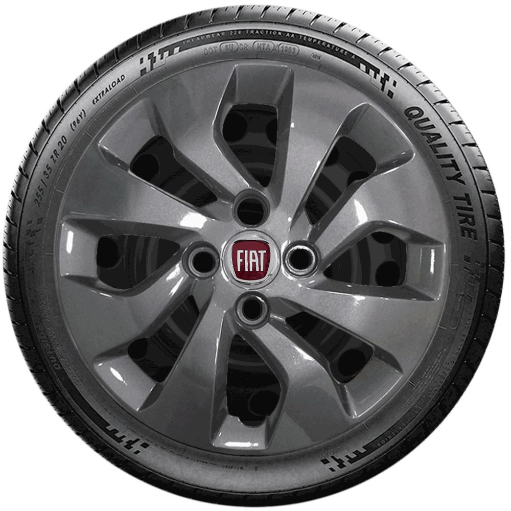 Calota Grafite Jogo 4Pçs Fiat Argo Driver 2019 2020 Aro 14 G373Gftj