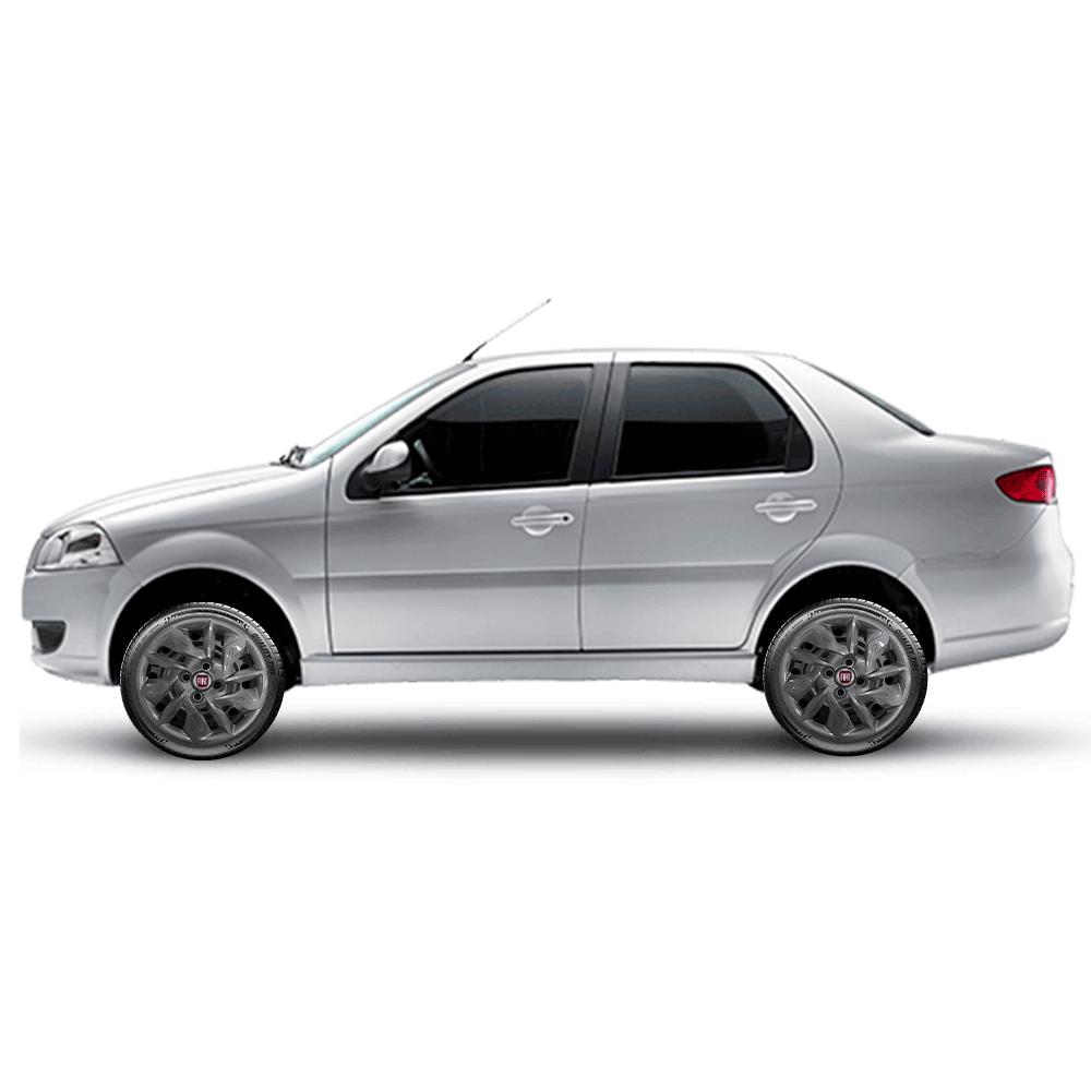 Calota Grafite Jogo 4Pçs Fiat Argo Gran Siena 2020 Aro 14 G292Gftj