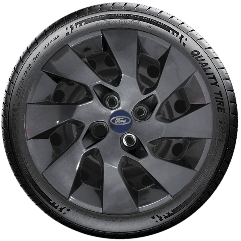 Calota Grafite Jogo 4Pçs Ford Fiesta Novo Ka 2020 Aro 14 G133Gftj