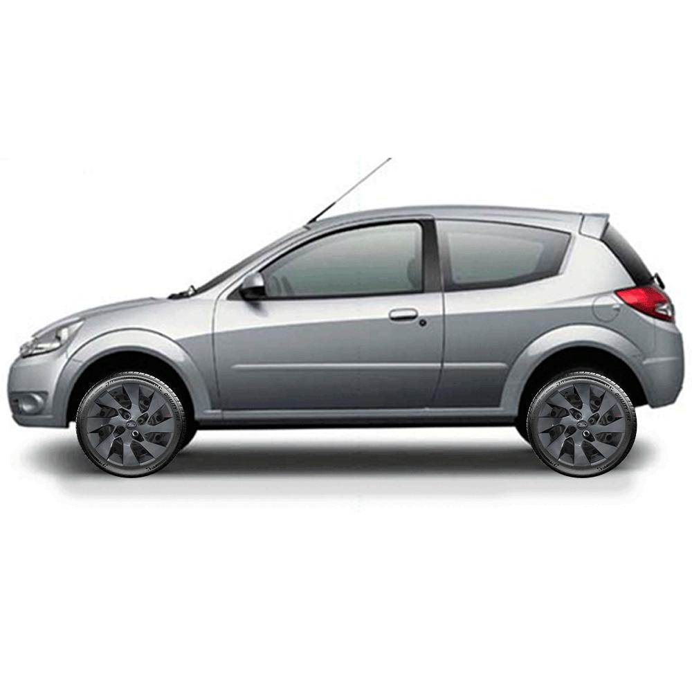 Calota Grafite Jogo 4Pçs Ford Novo Ka 2018 2020 Aro 15 G195Gftj