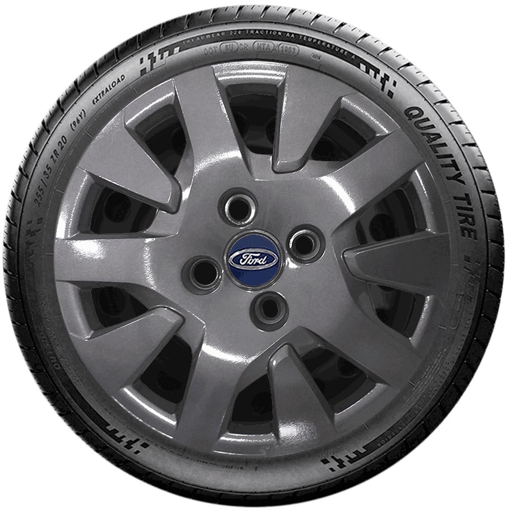 Calota Grafite Jogo 4Pçs Ford Novo Ka New Fiesta G343Gftj  - Rei das Calotas