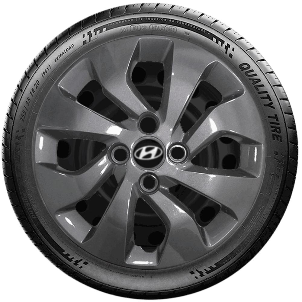 Calota Grafite Jogo 4Pçs Hyundai Hb20 Hb20S 2020 Aro 14 G373Gftj