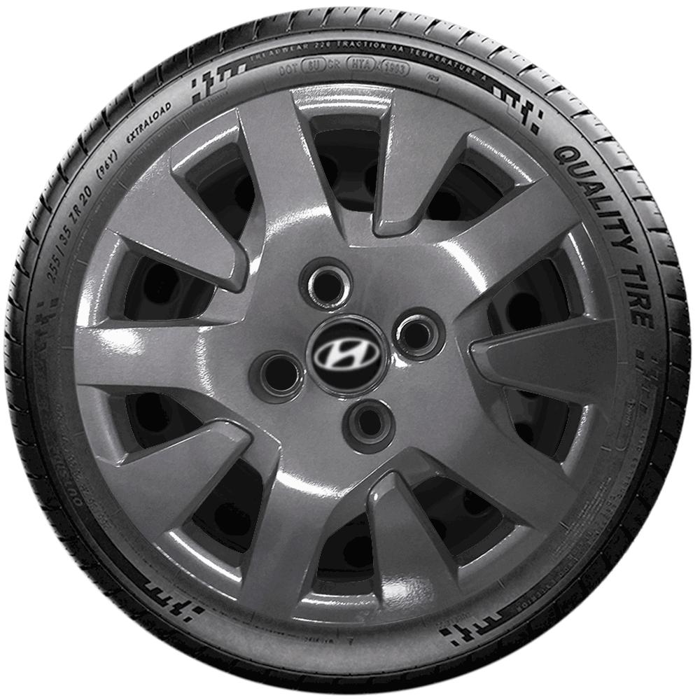 Calota Grafite Jogo 4Pçs Hyundai Hb20 Respectiv Aro 14 G343Gftj