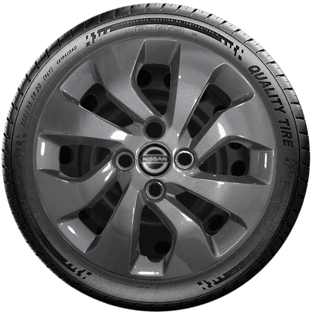 Calota Grafite Jogo 4Pçs Nissan March 2016 2020 Aro 14 G373Gftj