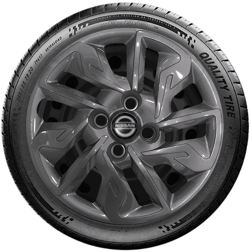 Calota Grafite Jogo 4Pçs Nissan March Versa 2020 Aro 14 G292Gftj