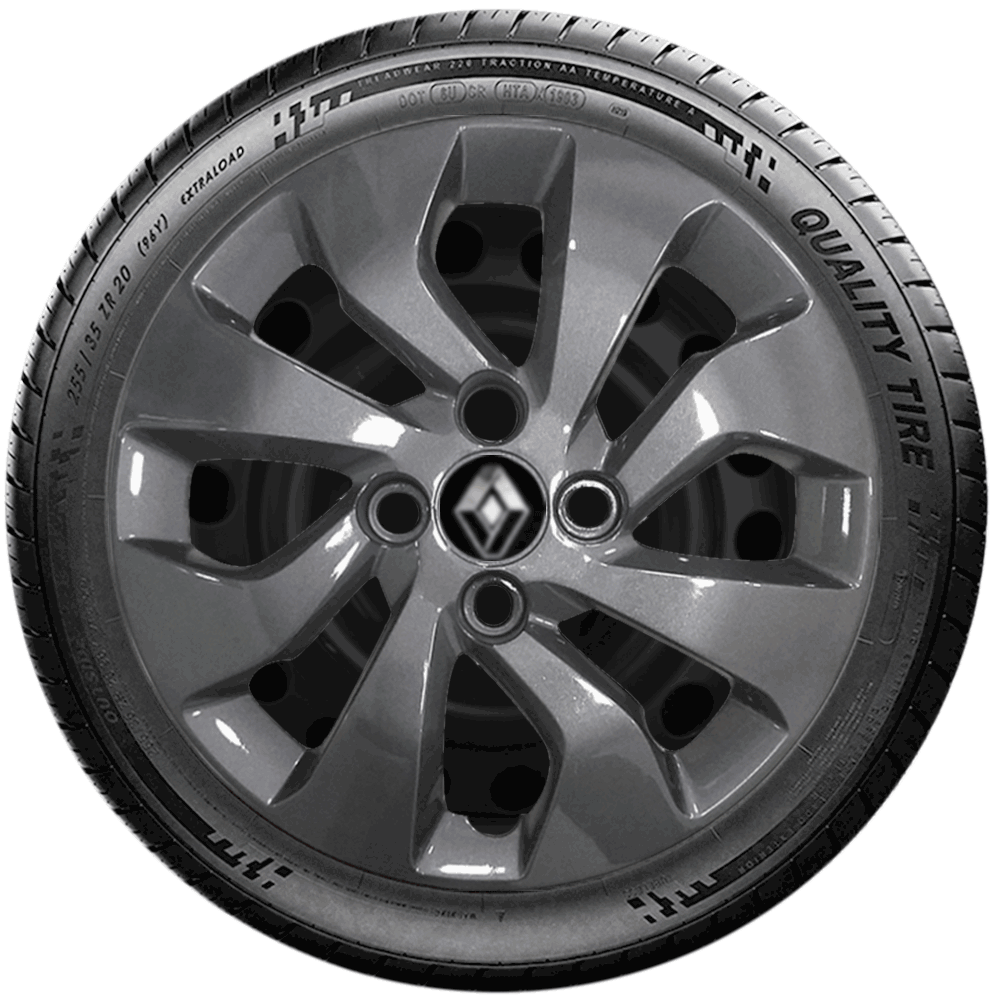 Calota Grafite Jogo 4Pçs Renault Sandero Logan 2020 Aro 14 G373Gftj