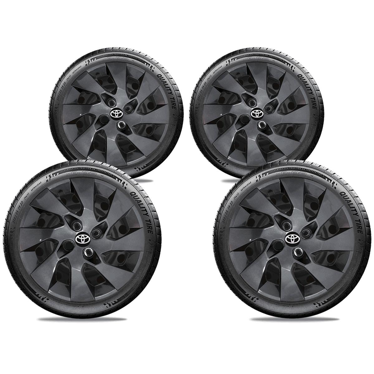 Calota Grafite Jogo 4Pçs Toyota Etios Corolla Aro 15 G195Gftj