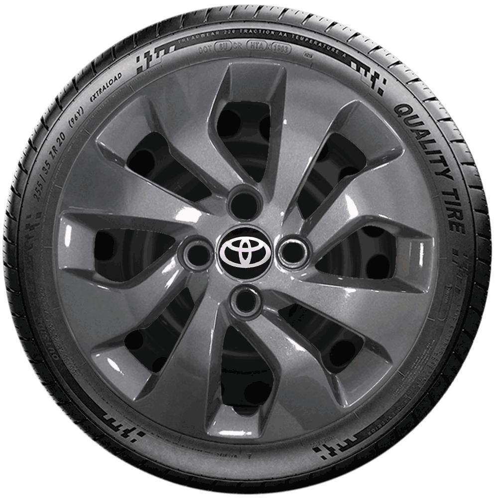 Calota Grafite Jogo 4Pçs Toyota Etios Sedan Hatch Aro 14 G373Gftj