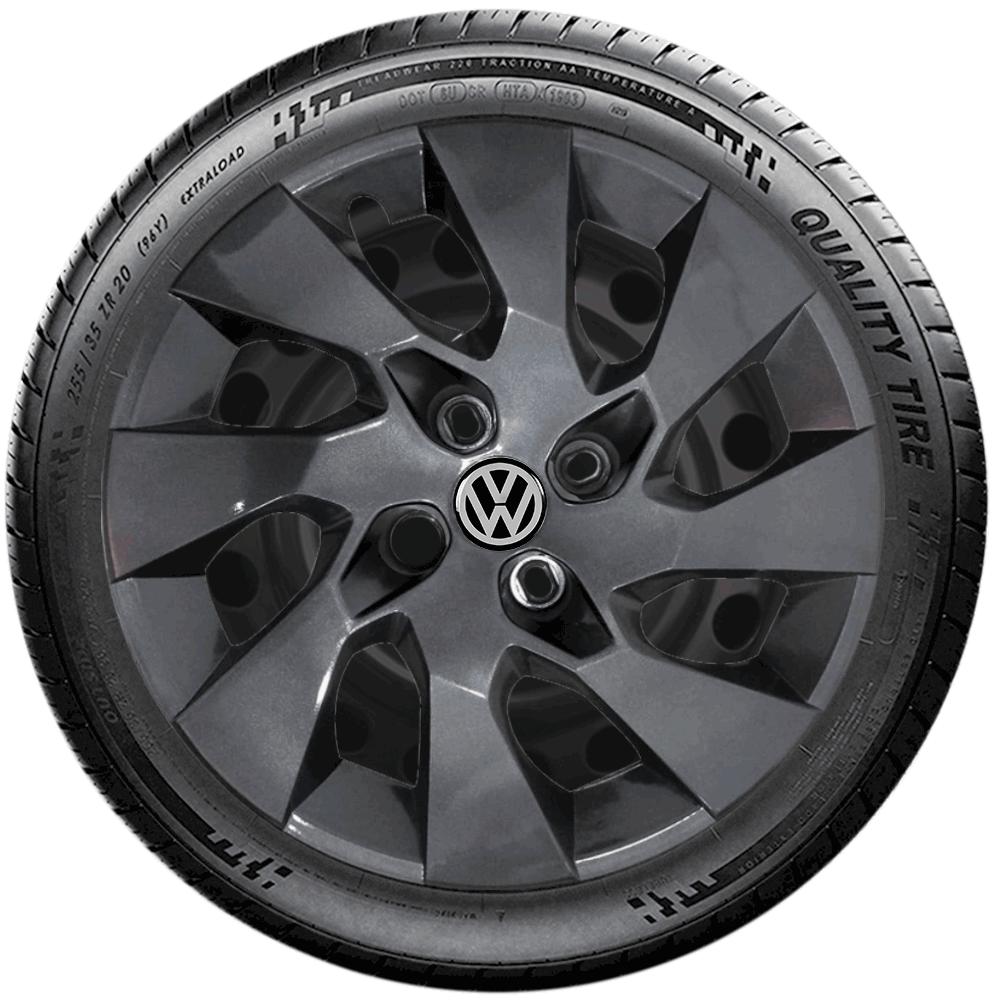 Calota Grafite Jogo 4Pçs Volkswagen Gol G5 G6 G7 Voyage Aro 14 G133Gftj