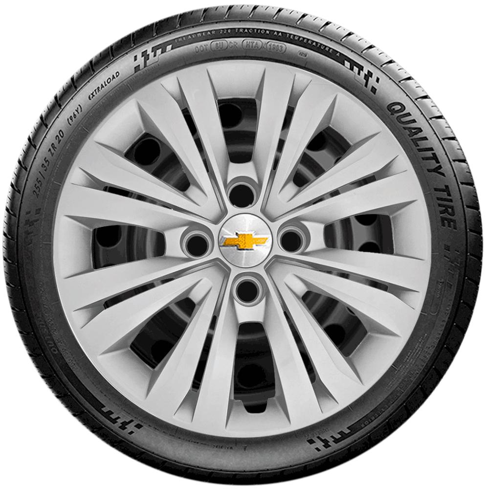 Calota Jogo 4Pçs Chevrolet Agile Onix Novo Prisma Astra Aro 15 G246J