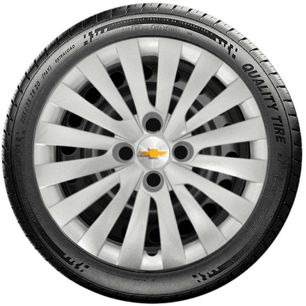 Calota Jogo 4Pçs Chevrolet Agile Onix Prisma Astra Aro 15 G242J