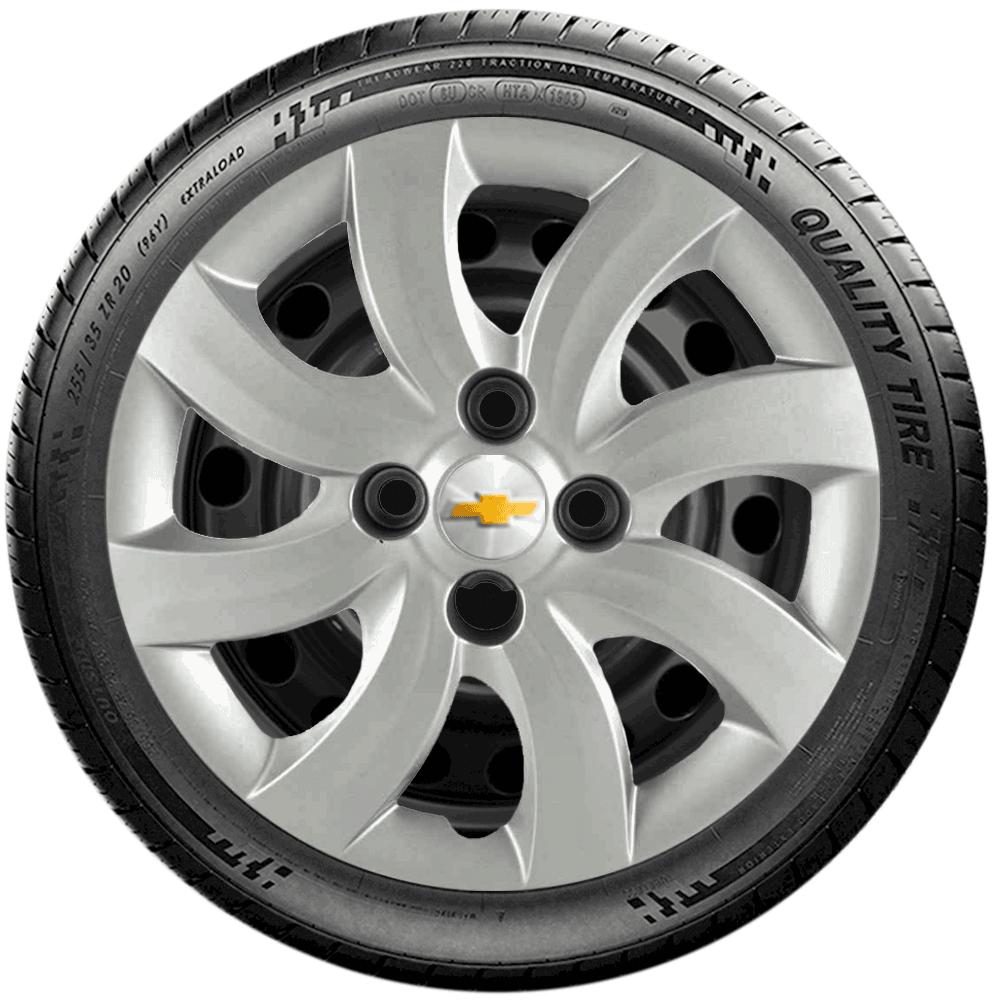 Calota Jogo 4Pçs Chevrolet Corsa Celta Classic Aro 14 G094J