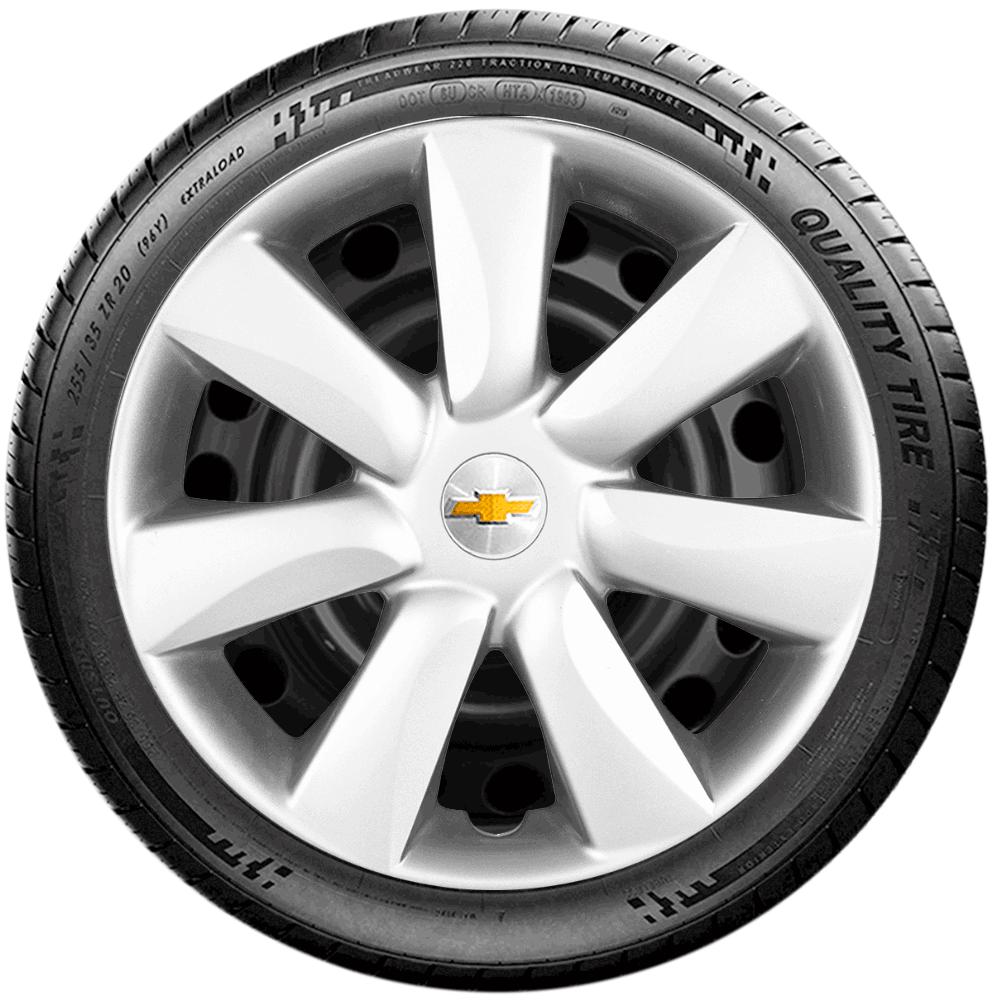Calota Jogo 4Pçs Chevrolet Corsa Celta Prisma Aro 14 G450J