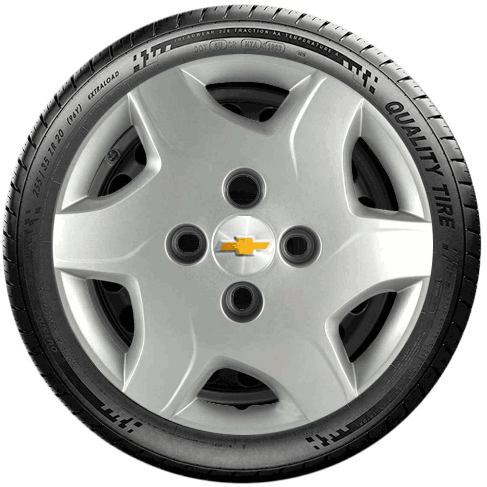 Calota Jogo 4Pçs Chevrolet Corsa Classic Celta Prisma Aro 13 G042J