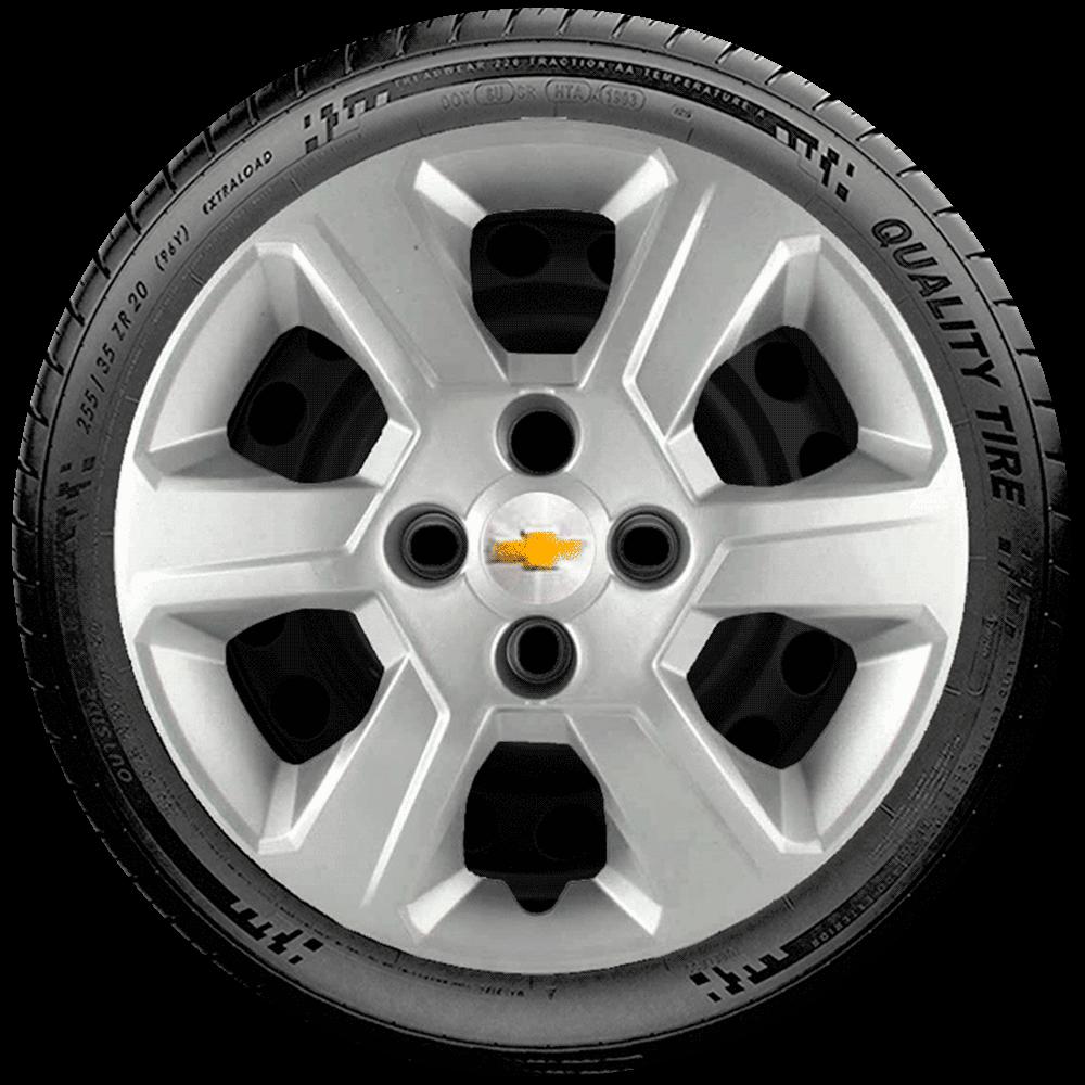 Calota Jogo 4Pçs Chevrolet Onix Corsa Celta Prisma Montana Aro 14 G370J