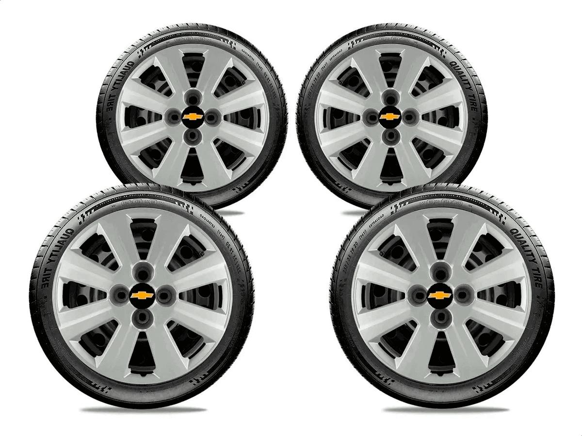 Calota Jogo 4Pçs Chevrolet Onix Corsa Celta Prisma Aro 14 G133J