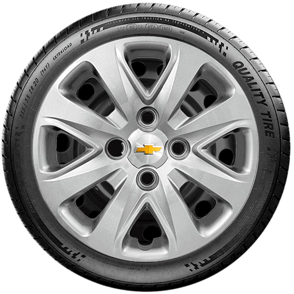Calota Jogo 4Pçs Chevrolet Onix Novo Prisma Aro 14 G340J