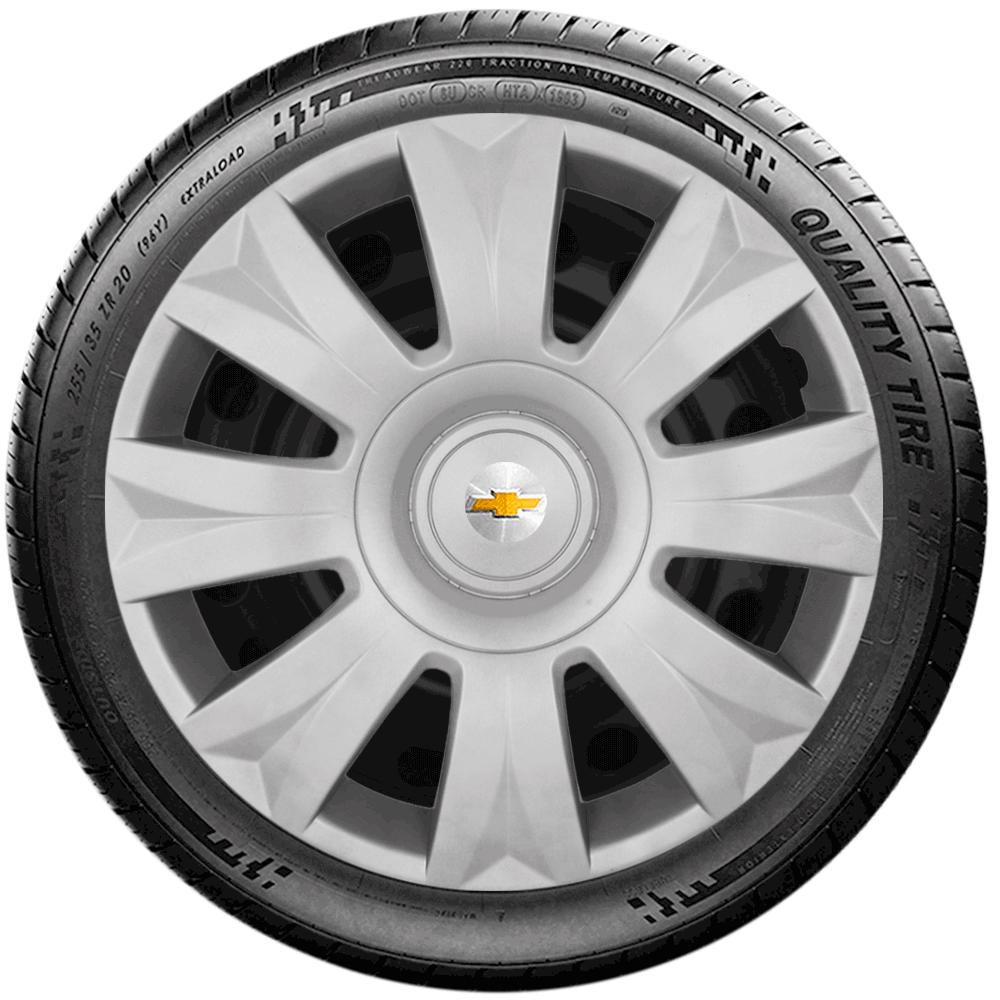 Calota Jogo 4Pçs Chevrolet Spin Meriva Corsa Aro 15 G169J