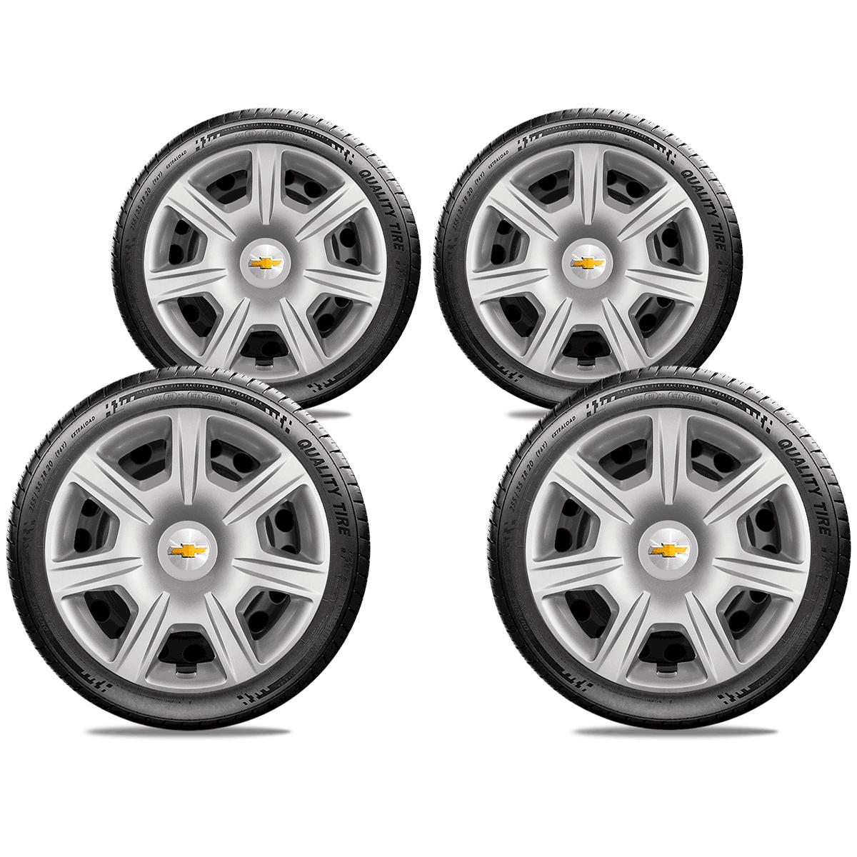 Calota Jogo 4Pçs Chevrolet Spin Meriva Corsa Aro 15 G876J