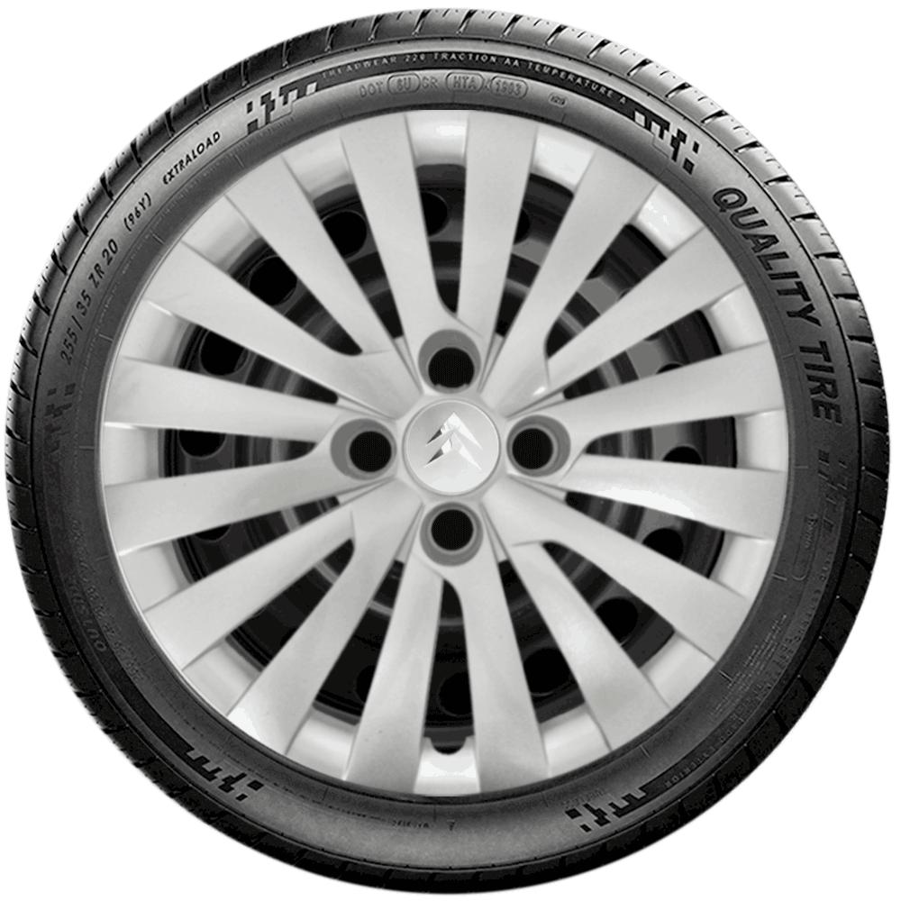 Calota Jogo 4Pçs Citroen C3 C4 Xsara Picasso Aro 14 G117J