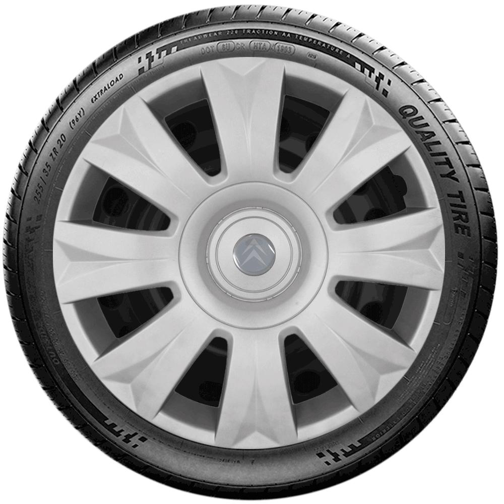 Calota Jogo 4Pçs Citroen C3 C4 Xsara Picasso Aro 15 G169J