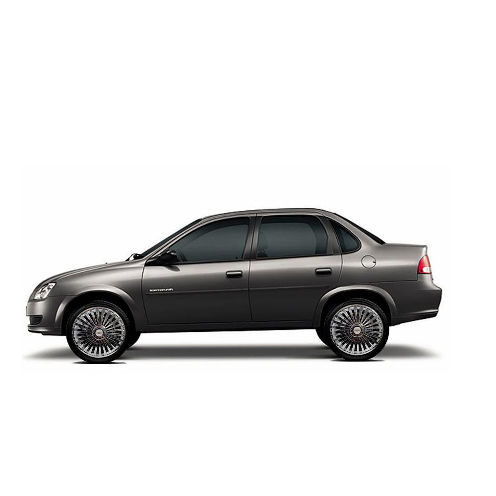 Calota Cromada Jogo 4Pçs Chevrolet Aro 13 G075Chrj