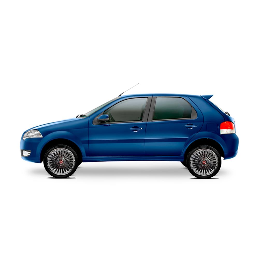 Calota Cromada Jogo 4Pçs Fiat Aro 13 G075Chrj
