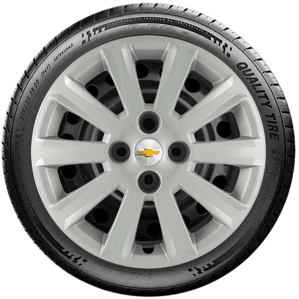 Calota Jogo 4Pçs Chevrolet Agile Onix Prisma Astra Aro 15 G018J