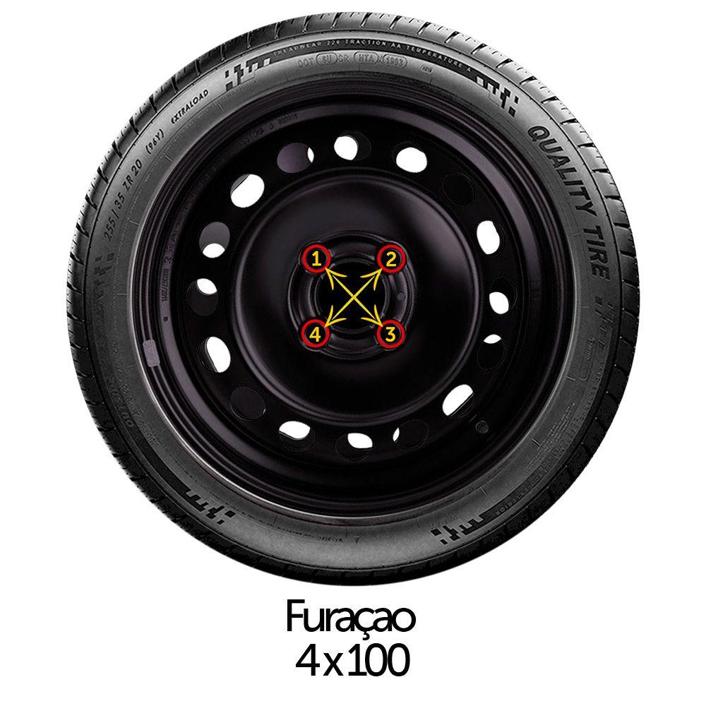 Calota Jogo 4Pçs Fiat Grand Siena Novo Palio Argo Cronos Aro 15 G204J