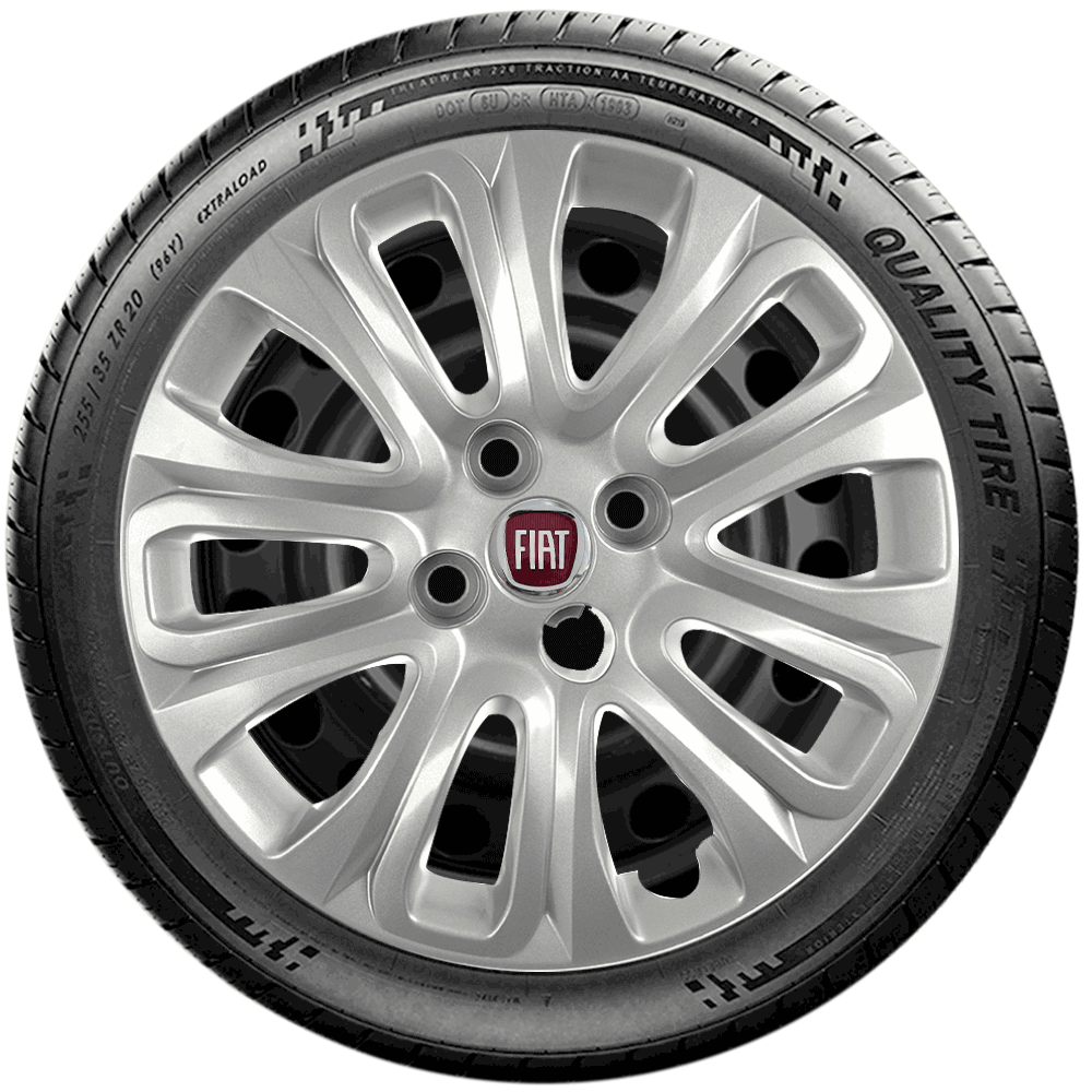 Calota Jogo 4Pçs Fiat Grand Siena Novo Palio Punto Ideas Aro 15 G229J