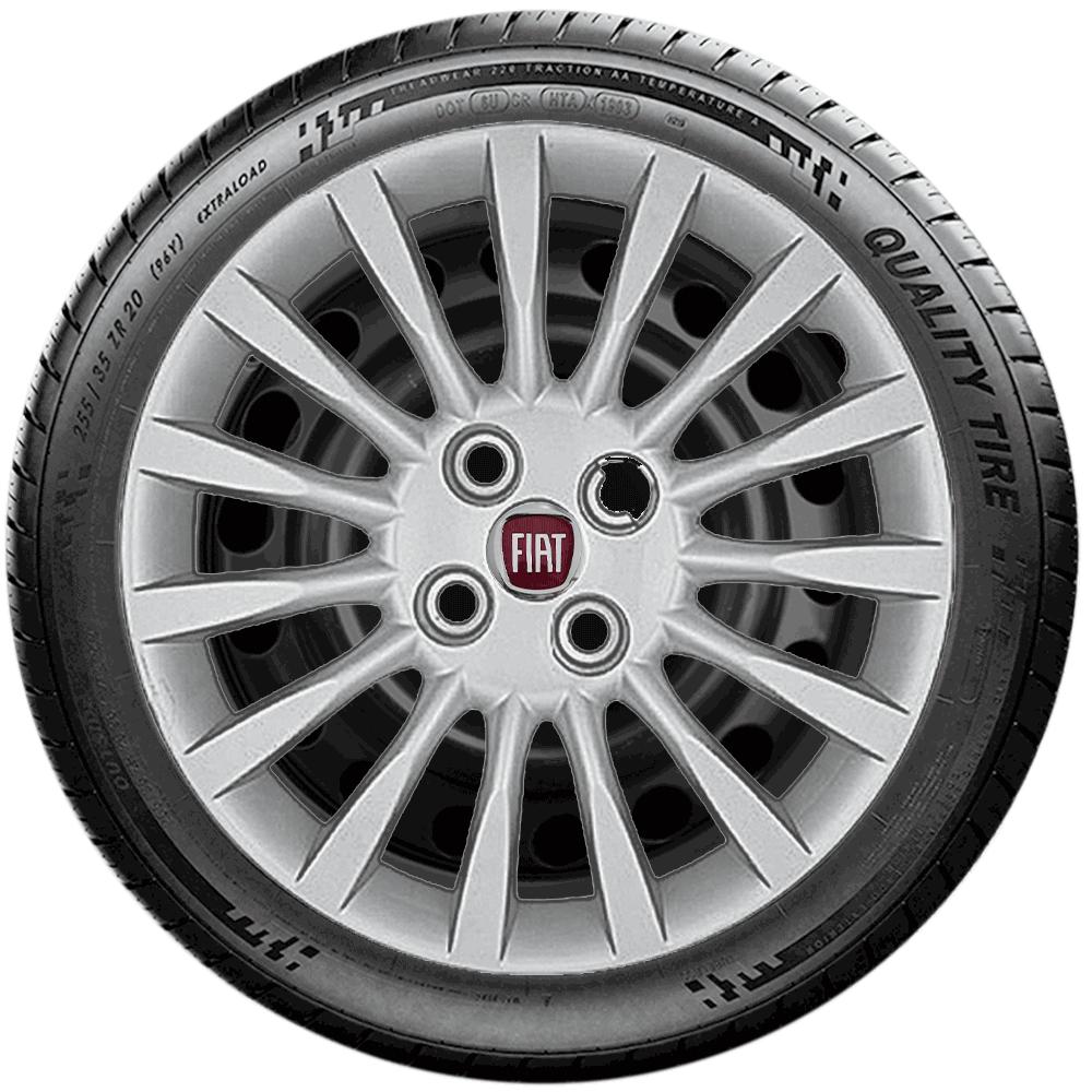 Calota Jogo 4Pçs Fiat Grand Siena Punto Argo Idea Aro 15 G216J