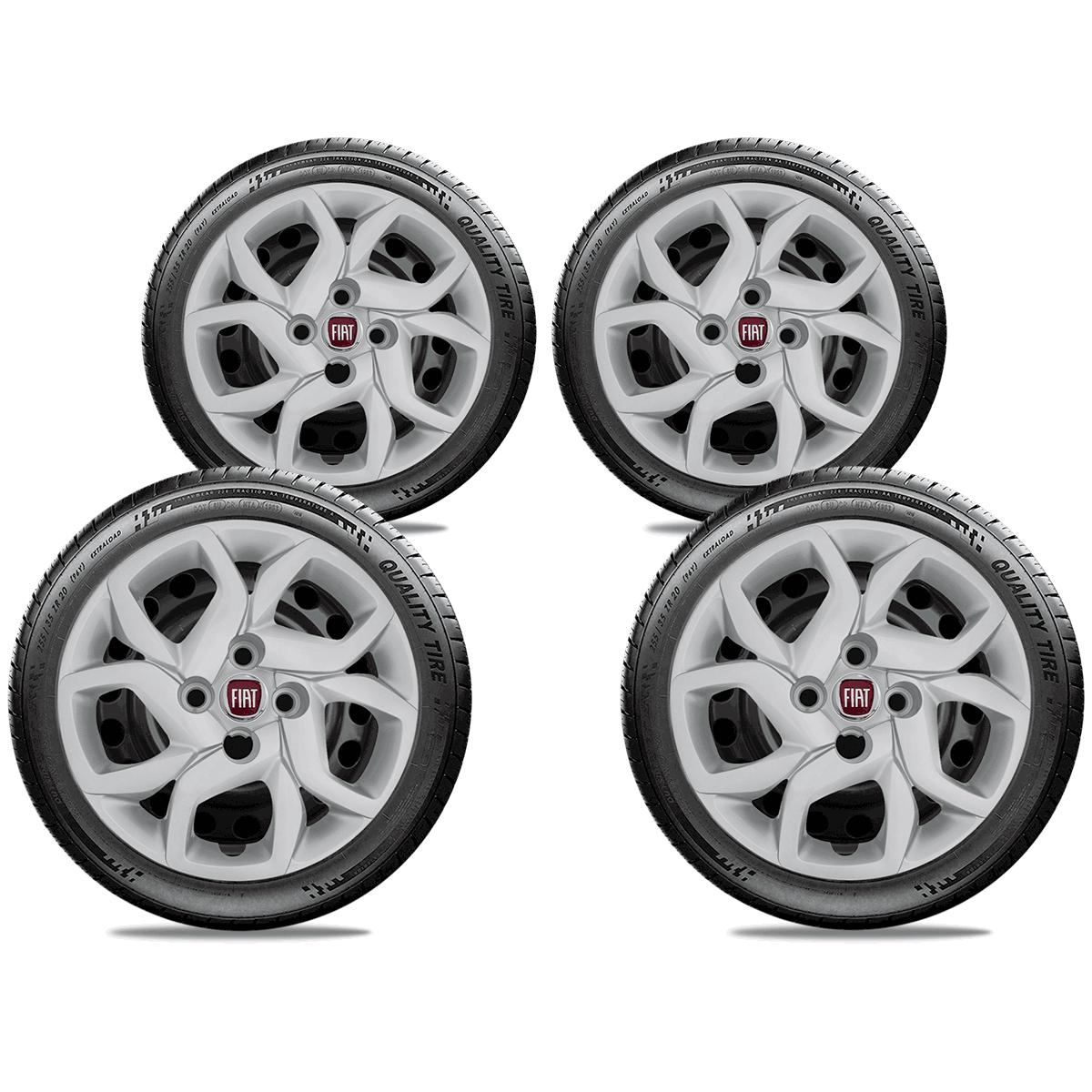 Calota Jogo 4Pçs Fiat Mobi 2017 2018 2019 Aro 14 G291J