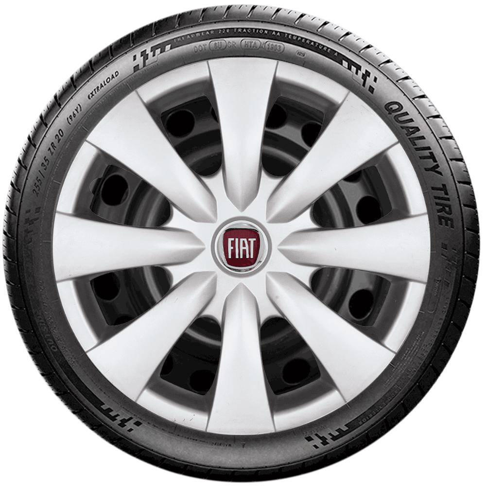 Calota Jogo 4Pçs Fiat Novo Palio Argo Cronos Grand Siena Aro 15 G460J